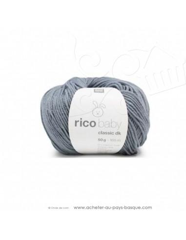 Pelote laine à tricoter RICO BABY CLASSIC DK bleu atlantique 055 - Rico Design - fil layette bébé - laine biarritz