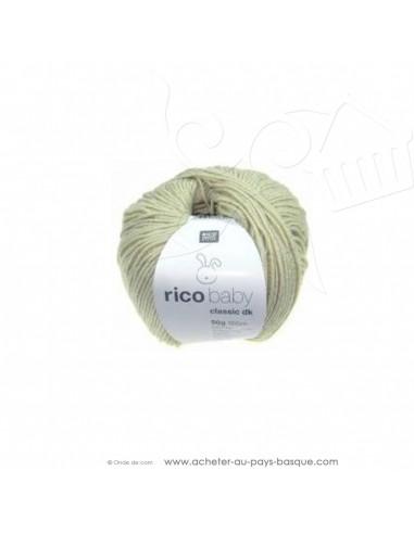 Pelote laine à tricoter RICO BABY CLASSIC DK écru 020 - Rico Design - fil layette bébé - laine biarritz