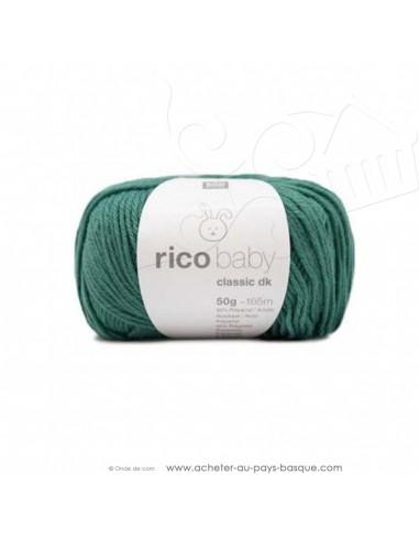Pelote laine à tricoter RICO BABY CLASSIC DK lierre 062- Rico Design - fil layette bébé - laine biarritz