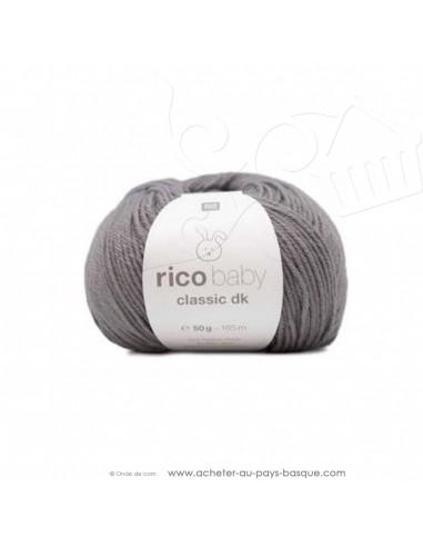 Pelote laine à tricoter RICO BABY CLASSIC DK mauve 041- Rico Design - fil layette bébé - laine biarritz