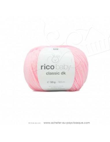 Pelote laine à tricoter RICO BABY CLASSIC DK rose 004- Rico Design - fil layette bébé - laine biarritz