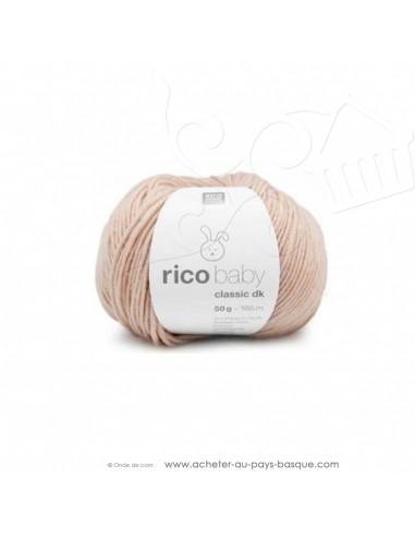 Pelote laine à tricoter RICO BABY CLASSIC DK nude 051- Rico Design - fil layette bébé - laine biarritz