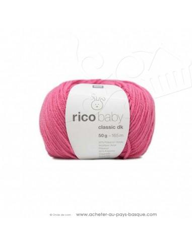 Pelote laine à tricoter RICO BABY CLASSIC DK bonbon 019- Rico Design - fil layette bébé - laine biarritz