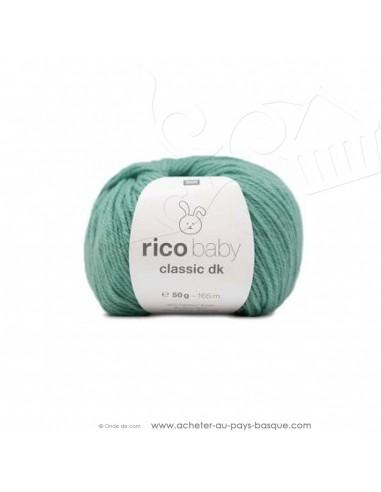Pelote laine à tricoter RICO BABY CLASSIC DK turquoise 025- Rico Design - fil layette bébé - laine biarritz