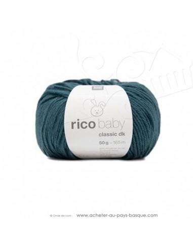 Pelote laine à tricoter RICO BABY CLASSIC DK vert bleu 059- Rico Design - fil layette bébé - laine biarritz