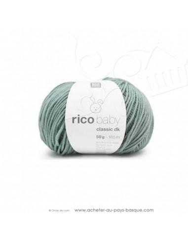 Pelote laine à tricoter RICO BABY CLASSIC DK vert d'eau 054- Rico Design - fil layette bébé - laine biarritz