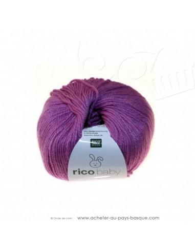 Pelote laine à tricoter RICO BABY CLASSIC DK fushia 012- Rico Design - fil layette bébé - laine biarritz