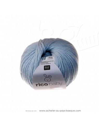 Pelote laine à tricoter RICO BABY CLASSIC DK bleu glacé 023- Rico Design - fil layette bébé - laine biarritz