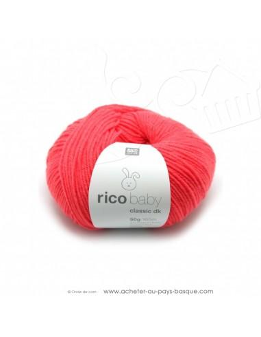 Pelote laine à tricoter RICO BABY CLASSIC DK melon 033- Rico Design - fil layette bébé - laine biarritz