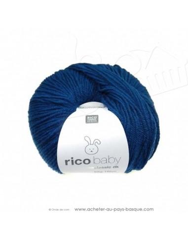 Pelote laine à tricoter RICO BABY CLASSIC DK blue jeans 036- Rico Design - fil layette bébé - laine biarritz