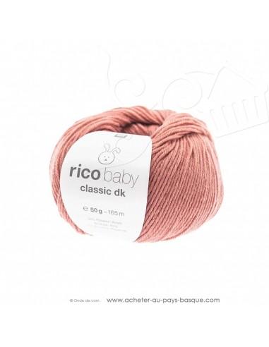 Pelote de laine à tricoter RICO BABY CLASSIC DK lotus 058 - Rico Design - fil tricot layette bébé -  laine Biarritz