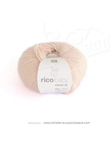 Pelote de laine à tricoter RICO BABY CLASSIC DK poudre 038 - Rico Design - fil tricot layette bébé -  laine Biarritz