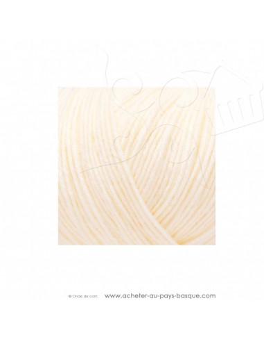 Pelote laine à tricoter RICO BABY CLASSIC 4 fils 002 crème - Rico Design - fil layette bébé - laine Biarritz