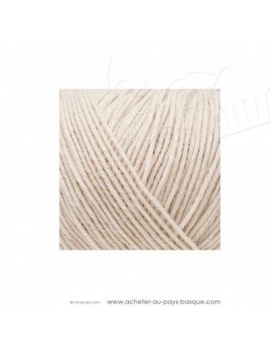 Pelote laine à tricoter RICO BABY CLASSIC 4 fils 002 écru - Rico Design - fil layette bébé - laine Biarritz