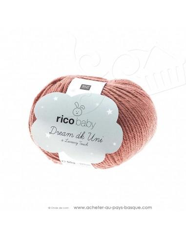 Pelote laine à tricoter RICO BABY DREAM DK uni 008 baie - Rico Design - fil layette bébé - laine Biarritz