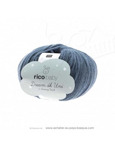 Pelote laine à tricoter RICO BABY DREAM DK uni 011 patine - Rico Design - fil layette bébé - laine Biarritz