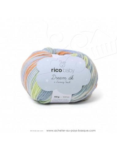 Pelote laine à tricoter RICO BABY DREAM DK multicolore 005 - Rico Design - fil layette bébé - docks Biarritz