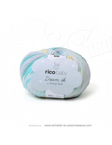 Pelote laine à tricoter RICO BABY DREAM DK multicolore 006 - Rico Design - fil layette bébé - docks Biarritz