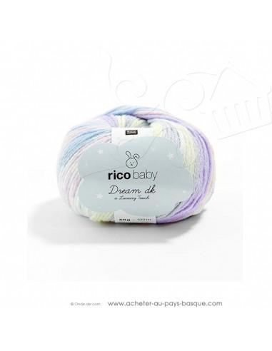 Pelote laine à tricoter RICO BABY DREAM DK multicolore 009 - Rico Design - fil layette bébé - docks Biarritz
