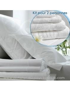 Location de linge (de lit et de bain) - kit 2 personnes -pressing kleber biarritz -  - lavpro