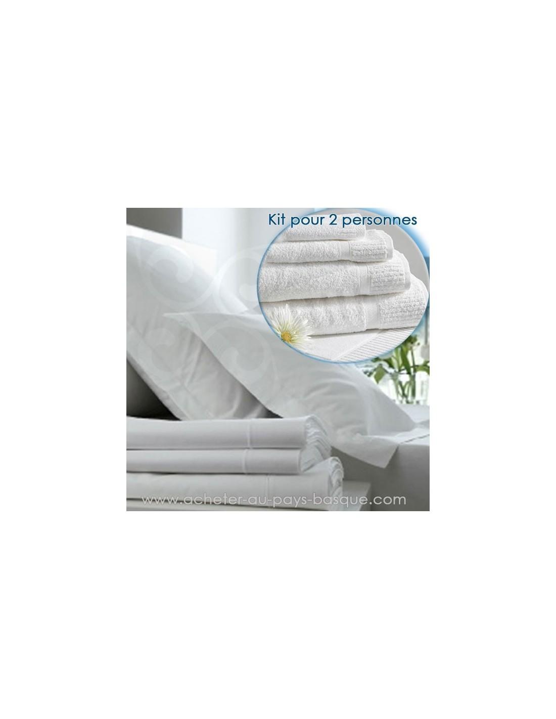 location linge lit bain kit 1pers pressing kleber biarritz. Black Bedroom Furniture Sets. Home Design Ideas