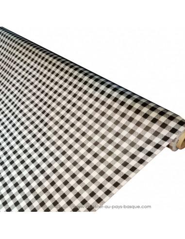 Nappe Toile cirée carreaux vichy noir et blanc - Dock Biarritz - acheter nappe basque - art de la table décoration - pays basque