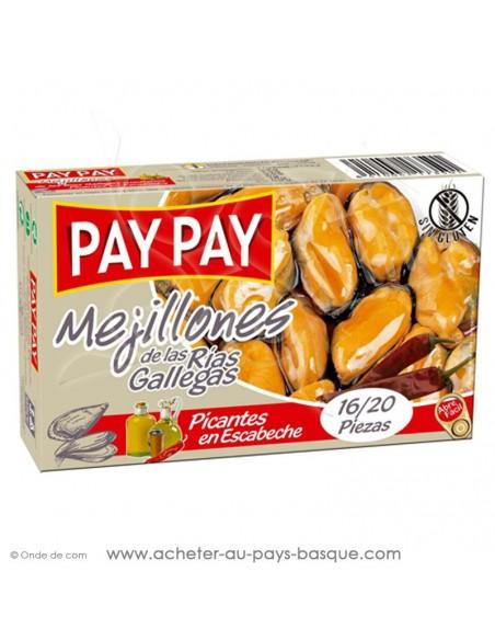 Moule escabeche picante Pay Pay - conserve epicerie produits espagnols - livraison a domicile bayonne biarritz anglet