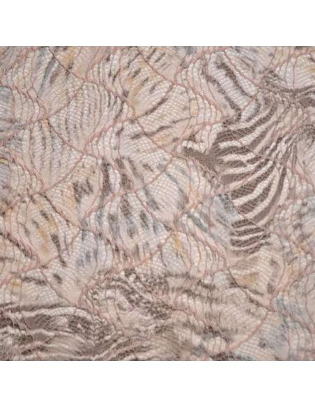 Jacquard Ecailles zebre rose - Tissus Habillement - Tissus des Docks de la Negresse - Biarritz