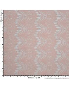 Dentelle rose - Tissus Habillement - Tissus des Docks de la Negresse - Biarritz - acheter tissu