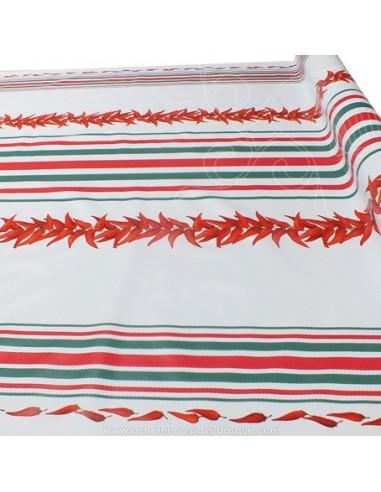 Toile cirée rayures Basques rouges...