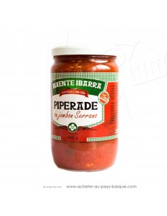 Piperade Basque au  jambon Serrano - conserve Bixente Ibarra - epicerie fine - plat cuisiné basque