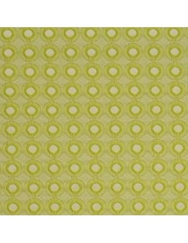 Jacquard citron - esprit annéee 70 - Tissu Habillement - Tissus des Docks de la Negresse - Biarritz