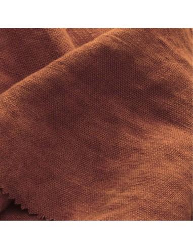 Lin français lavé 550gr couleur bois Tissus Ameublement - rideaux réfection fauteuils canapés Biarritz