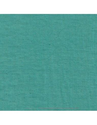 Lin français lavé 280gr/m² couleur vert d'eau - Tissu Ameublement et habillement - rideaux fauteuil canapé vêtement Biarritz