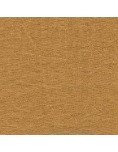 Lin français lavé 280gr/m² couleur gold - Tissu Ameublement et habillement - rideaux fauteuil canapé vêtement Biarritz