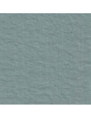 Lin français lavé 280gr/m² couleur sauge - Tissu Ameublement et habillement - rideaux fauteuil canapé vêtement Biarritz
