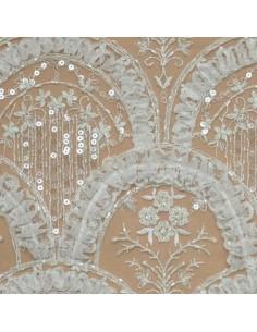Tulle conterie Italien Mariage - Tissu Habillement  - Tissus des Docks de la Negresse - Biarritz