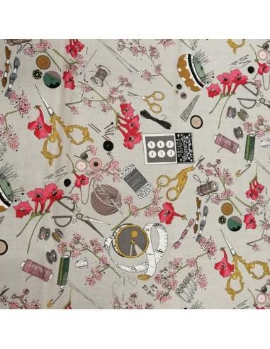 Patchwork coton popeline accessoire mercerie couture - vêtement sac patch - Tissu habillement Ameublement - Docks Biarritz