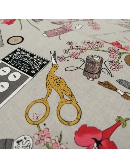 zoom Patchwork coton popeline accessoire mercerie couture - vêtement sac patch - Tissu habillement Ameublement - Docks Biarritz