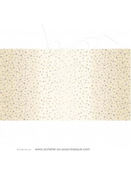 Quilting patchwork noel coton imprimé flocon neige or ombre fond creme - Tissu habillement Ameublement - Docks Biarritz