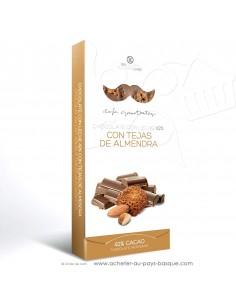 Acheter tablette Chocolat Basque lait et tuile amande - epicerie sucrée en ligne - Rafa Gorrotxategi maitre chocolatier