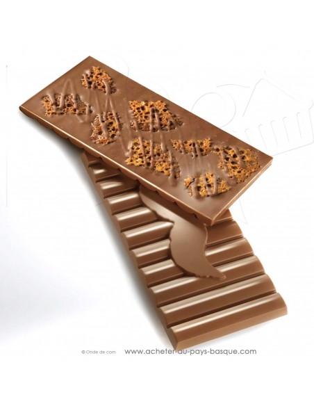 Acheter tablette Chocolat  lait et tuile amande - epicerie sucrée en ligne - Rafa Gorrotxategi maitre chocolatier pays basque