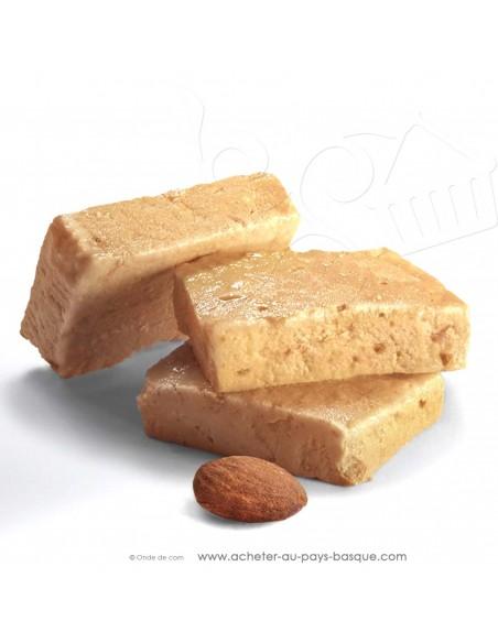 zoom Turron MOU amande Gamme Gourmet - Rafa Gorrotxategi chocolatier - epicerie confiserie espagnole - produit espagnol - noel