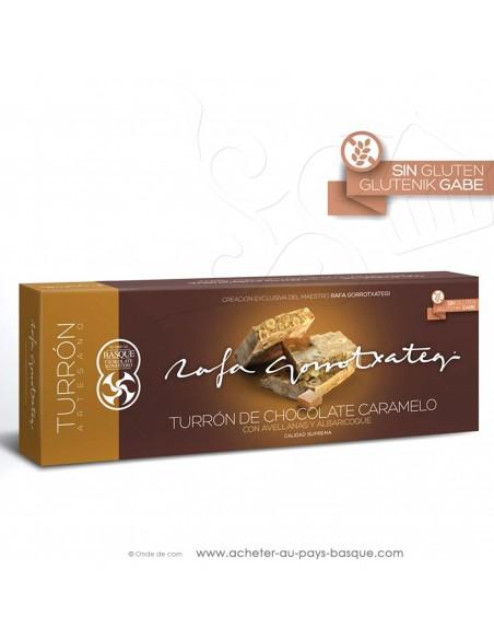 Turron chocolat caramel abricot noisette - Rafa Gorrotxategi chocolatier - epicerie confiserie espagnole - produit noel espagnol
