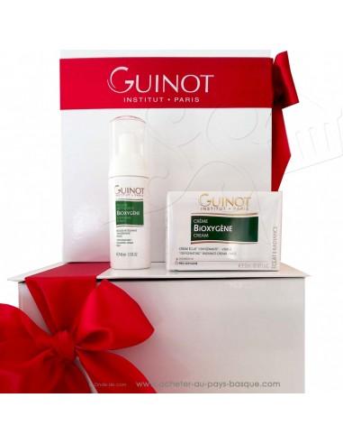 Idée Cadeau Beauté Noël coffret 2 produits Bioxygéne crème mousse oxygénante - Guinot Kroll Institut de Beauté Biarritz