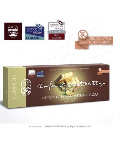 Touron truffe blanche mandarine yuzu Gamme Gourmet - Rafa Gorrotxategi chocolatier basque - confiserie espagnole - produit noel