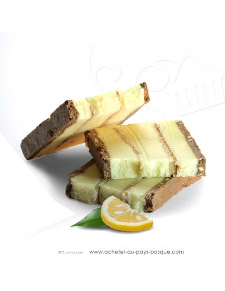 Zoom touron truffe blanche mandarine yuzu Gamme Gourmet - Rafa Gorrotxategi chocolatier - confiserie espagnole - produit noel