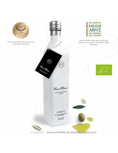 Huile d'olive extra vierge écologique bio 0.25L Casa Hierro artisanale - épicerie fine espagne - condiment espagnol