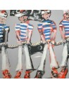 Collection Patrick Plattier :  Les Pompons des marins - Tissus Ameublement - Tissus des Docks de la Negresse - Biarritz