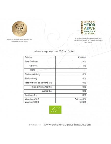 qualité Huile olive artisanale extra vierge bio écologique 0.5L Casa Hierro - Espagne épicerie fine - condiment espagnol